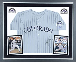 Matt Holliday Colorado Rockies Deluxe Framed Autographed Majestic Gray Jersey - Fanatics Authentic Certified