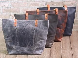 a648be3de802 Pegai Rustic Leather Tote Bag