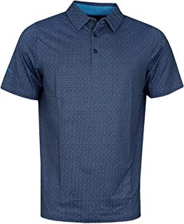 Callaway Mens All Over Chev Print Moisture Wicking Stretch Golf Polo Shirt