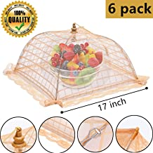 suggee 6 pack Large and Tall 17x17 Pop-Up Mesh Food Covers Tent Umbrella for Outdoors