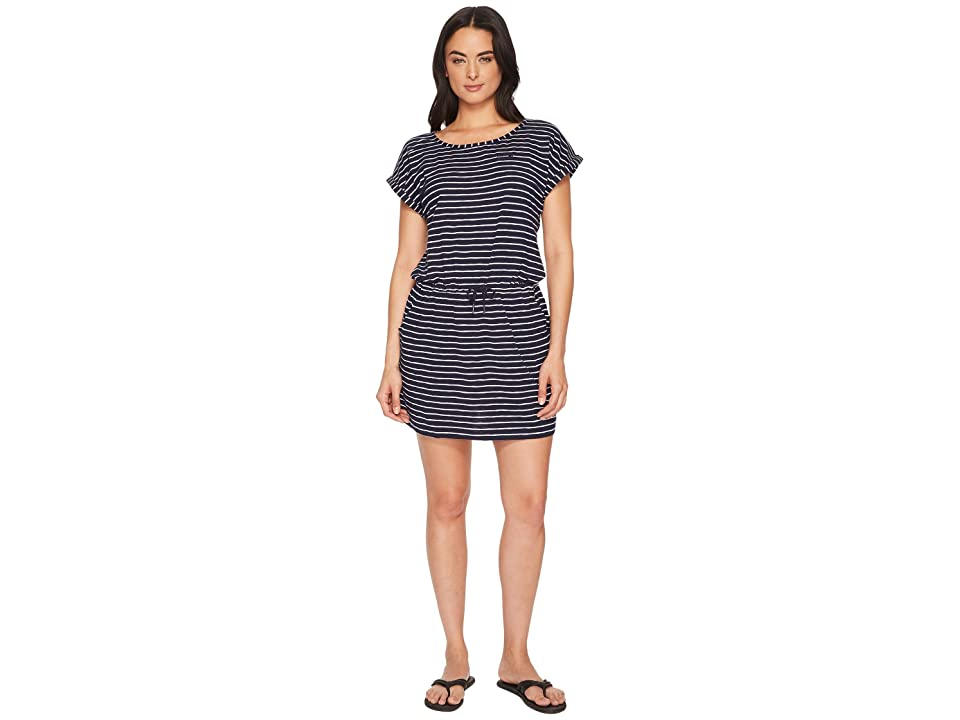 Jack Wolfskin Travel Striped Dress (Midnight Blue Stripes) Women