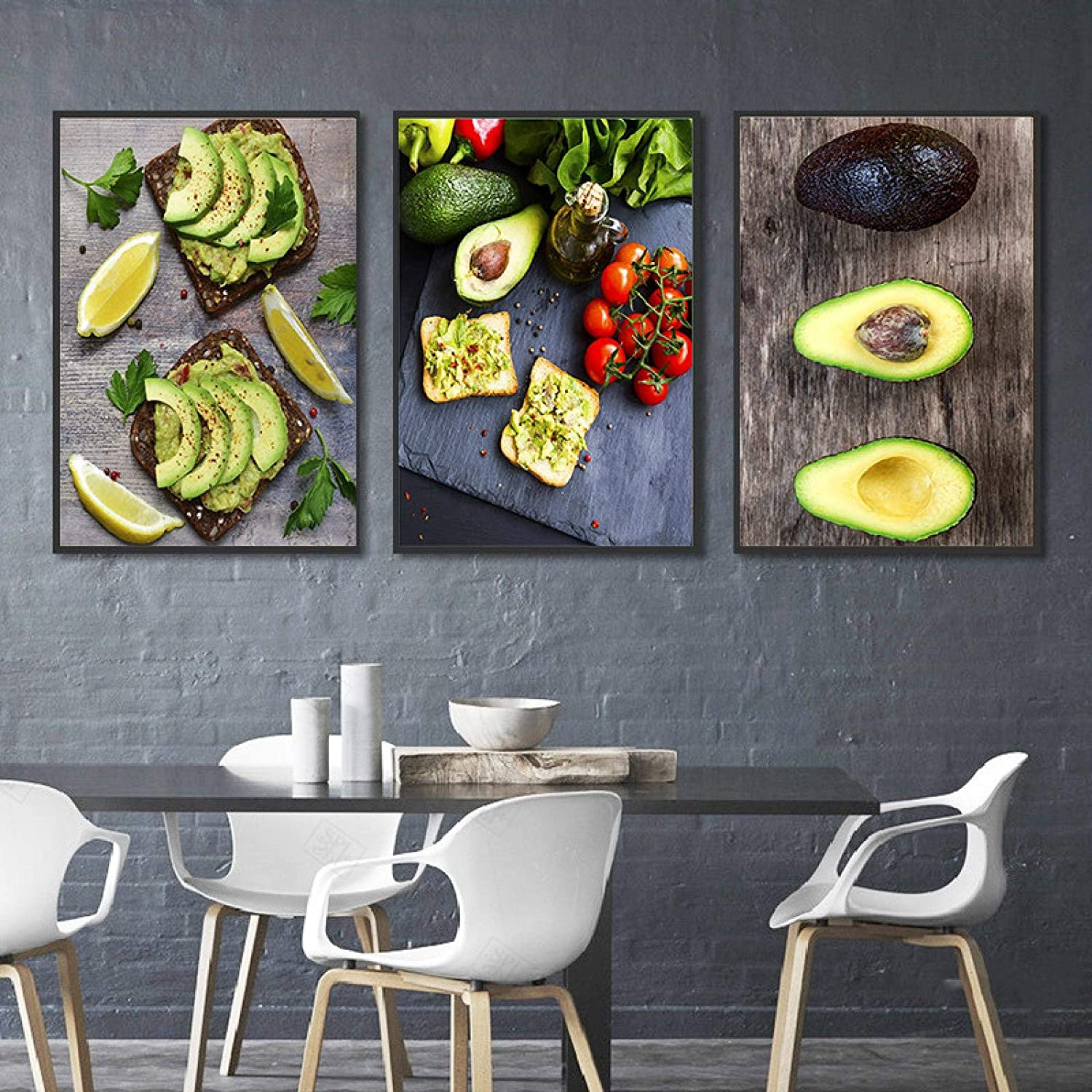 YQLKC San Francisco Mall Art Nordic Decorative Poster Avocado Fig Under blast sales Fruit with Toasts