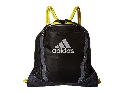 58fa5d784 Adidas Originals Rumble Ii Sackpack, Black/Black Jersey/Shock Yellow/Onix
