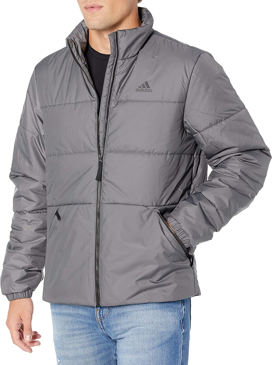 adidas 70% OFF Outlet Max 52% OFF mens Basic Insulated Jacket 3-stripes