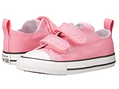 Converse Kids Chuck Taylor 2V Ox (Infant/Toddler) (Pink) Girls Shoes