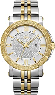 JBW Men's Luxury Vault 24 Diamonds Pave Dial Metal Watch