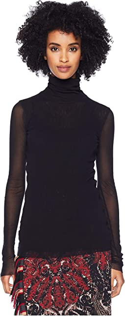 Long Sleeve Solid T-Neck