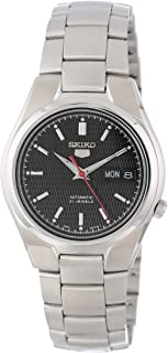 Seiko Men's SNK607 Seiko 5 Automatic Black Dial Stainless-Steel Bracelet Watch