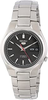 Men's SNK607 Seiko 5 Automatic Black Dial Stainless-Steel Bracelet Watch