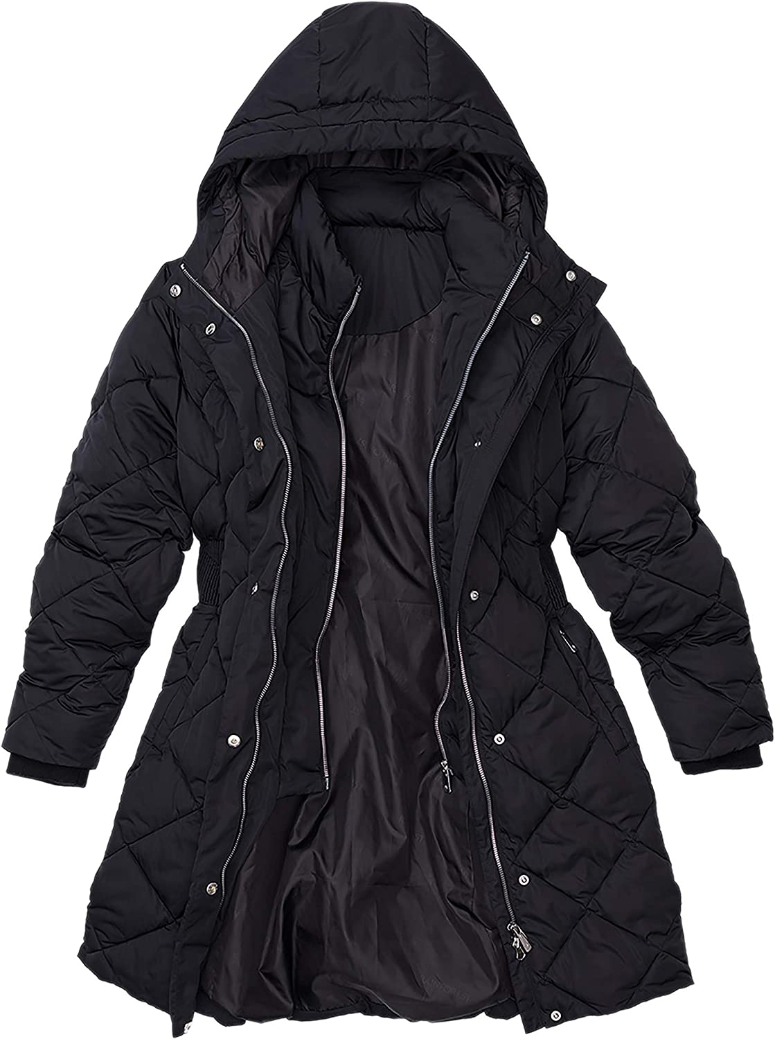 Diamond Quilted ThermoLuxe Winter Jacket Limited price Ranking TOP1 Large for Black Women