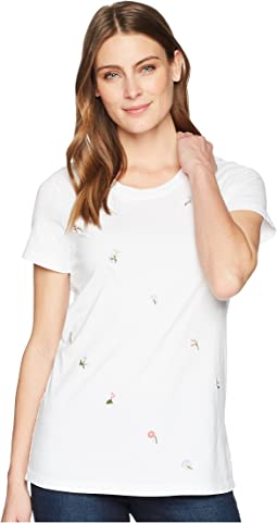 Classic Jersey Ditsy Embroidered Short Sleeve T-Shirt
