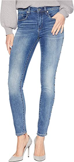 Novelty Denim Skinny with Grommet Detail On Side Of Leg in Gnarly
