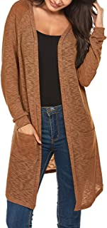 Women's Cardigan Sweater, Loose Casual Open Front with Long Sleeved for Home and Outdoors, S-XXL
