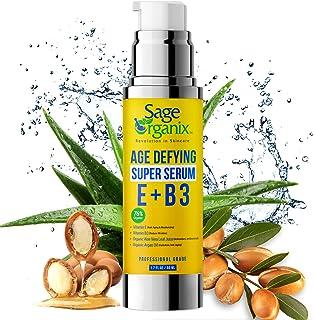 Sage Organix Anti Aging Niacinamide Super Serum for Face, 76% Organic Hydrating Anti Wrinkle Pore Minimizer Day Night Seru...