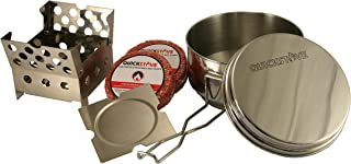 QuickStove Portable Emergency Cook Kit. Multi-Fuel Stove, Stainless Steel Pot, Fuel, and Food - Perfect for Survival Kits & Emergency Preparedness