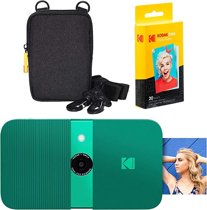 36 opiniones para KODAK Smile Cámara Digital de impresión instantánea (Green) Soft Case Kit