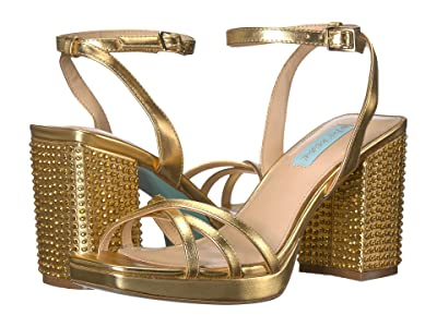 Blue by Betsey Johnson Zhara Block Heeled Sandal (Gold) Women