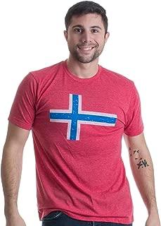 Norwegian Flag | Vintage Style, Retro-Feel Norway Flag & Lion Unisex T-Shirt