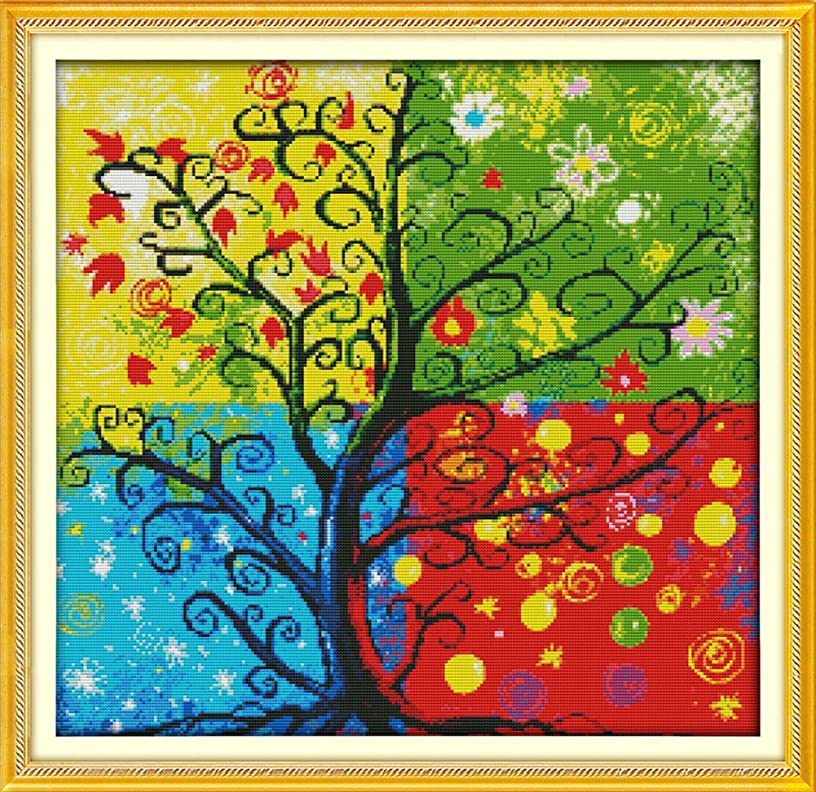 Benway Counted Cross Kit the Money Tree 14 Count 54x52cm