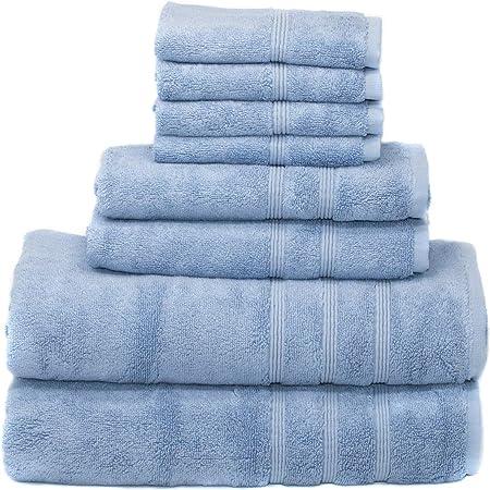 Allure Soft Absorbent Hand-Woven Jacquard 100/% Cotton Hand Bath Towels Bathroom