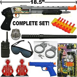 Super Police Force Play Set - Shotgun, Handcuffs, Dart Gun, Badge, Targets, Radio Toy
