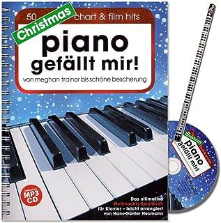 Christmas Piano gefällt mir. ultime Jeu livre (50Hits méditatif) pour Piano en spirale avec CD de Noël Par Homme de Hans Günter foin–avec crayons de Piano