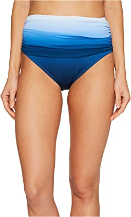 Bleu Rod Beattie - Hola Ombré Shirred High Waist Bikini Bottom