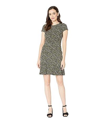 MICHAEL Michael Kors Pebble Camo Flounce Dress (Black/Ivy) Women