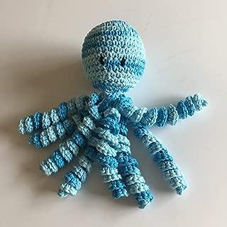 Crochet Octopus for Preemies, Crochet Octopus for Babies in Variegated Blue Color, Crochet Amigurumi