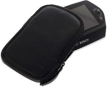 Honju Bike cuoio genuino per Bosch Nyon E-Bike Pedelec  Protezione del display tasca interna supplementare per chiavi protezione contro sporcizia colpi  61090