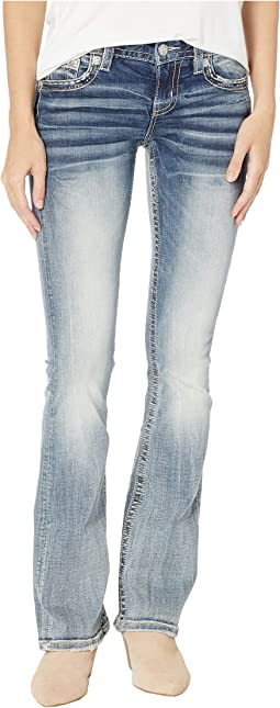 Horseshoe Bootcut Jeans in Light Blue
