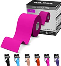 SB SOX Kinesiology Tape (16ft Uncut Roll) – Best Latex Free, Water Resistant Tape for Muscles & Joints – Perfect for Any Activity – Easy to Apply/Use, Works Great, Stays on for Several Days!