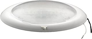 Gustafson L8002 RV/Auto Double Oval Dome Light - White, On/Off Switch