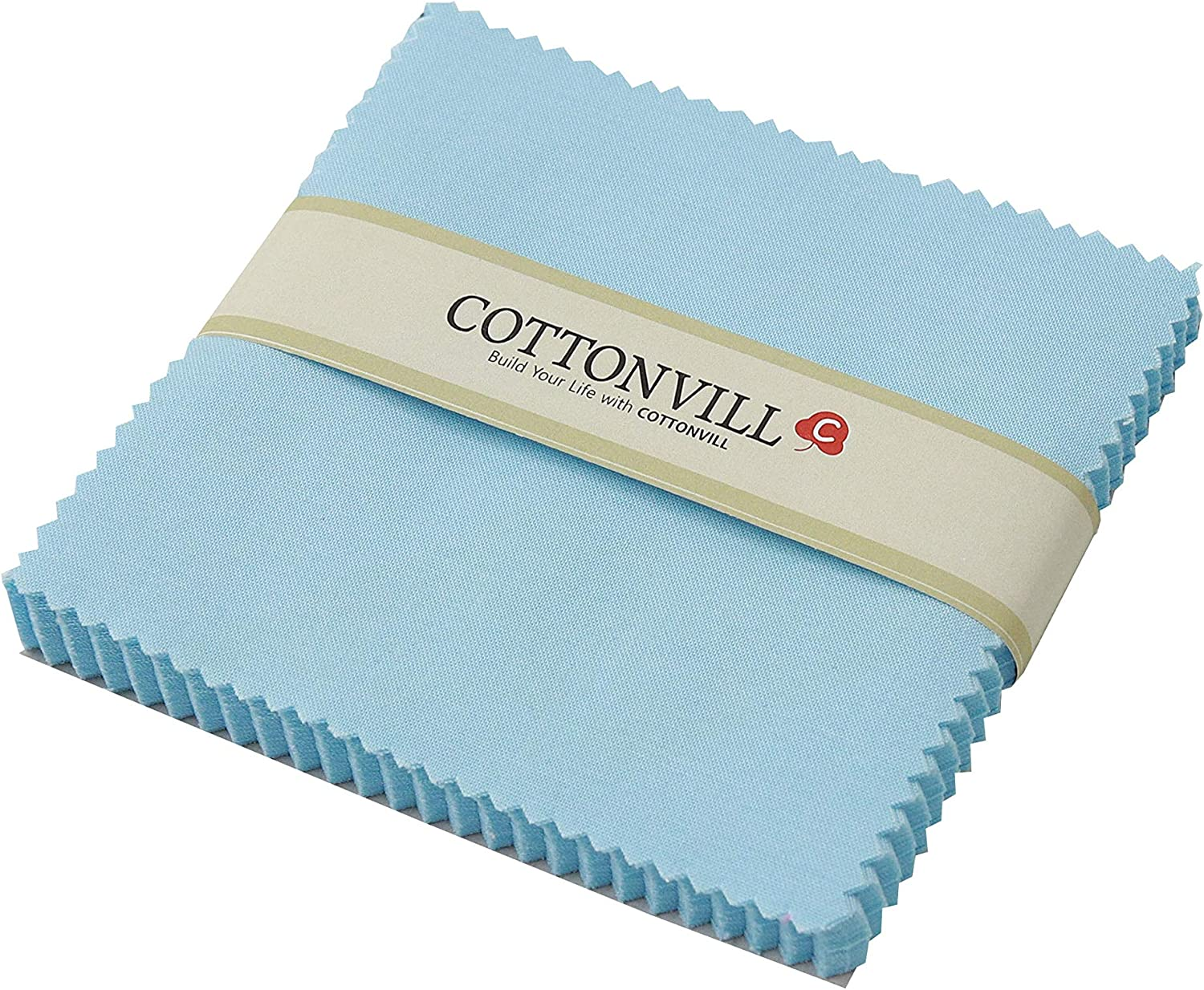 Some reservation COTTONVILL 20COUNT Cotton Solid Quilting Fabric supreme Square 5inch 3