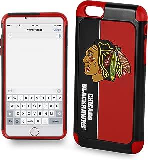 Forever Collectibles iPhone 6S 4.7 英寸屏幕大胆系列双层手机壳适用于 NHL 芝加哥黑鹰队