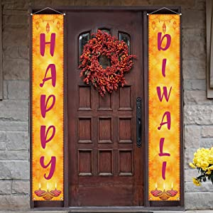 Jiudungs Diwali Decoration Outdoor Diwali Decorations Clearance Happy Diwali Banner Indian Dlwali Decor Festival of Lights Party Supplies for Home