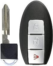 KeylessOption Keyless Entry Remote Smart Car Key Fob for Nissan Leaf, Quest, Juke, Cube, Versa Note CWTWB1U808