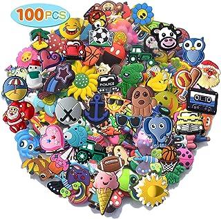 30,50,100pcs Random PVC Different Shoe Charms For Shoe Decoration Wristband Bracelet Party Gifts