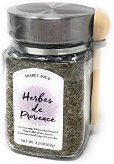 Trader Joe's Herbes de Provence Spice Mix Jar with Attached Spoon. 2.2 Oz.