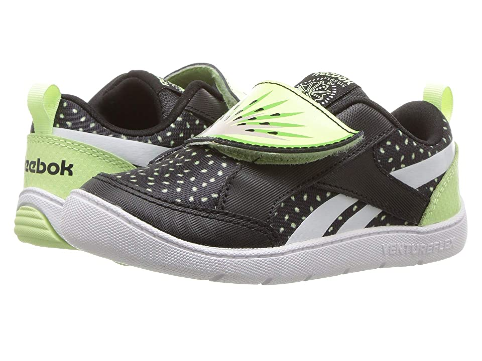 Reebok Kids Ventureflex Chase II (Infant/Toddler) (Black/Lime Glow) Boys Shoes