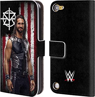Official WWE Seth Rollins American Flag Superstars Leather Book Wallet Case Cover Compatible for iPod Touch 5G 5th Gen