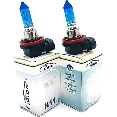 Inion 2x H11 55w Xenon Style Lampen Für Nebelscheinwerfer Halogen Birne Xenon Look 6 Zugelassen Auto
