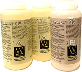 Polyaspartic 85 | High-Gloss, Protective, Polyaspartic Concrete Coating (3 Quart Kit)