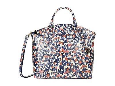 Brahmin Melbourne Large Duxbury Satchel (Wildcat) Satchel Handbags