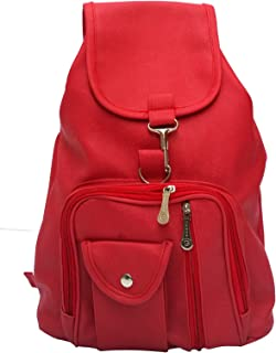 Vintage Red Casual Backpack