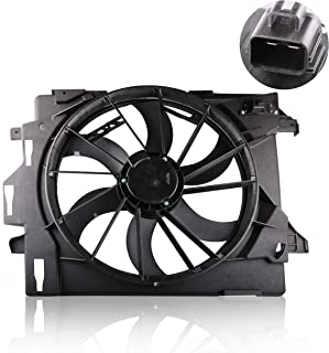 MOSTPLUS Front Radiator Cooling Fan for 08-10 Chrysler Town & Country Dodge Grand Caravan Replaces 5058674AA