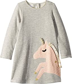 Unicorn Long Sleeve Casual Dress (Infant/Toddler)