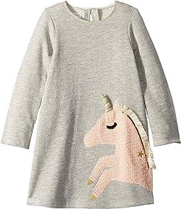Unicorn Long Sleeve Casual Dress (Infant/Toddler)