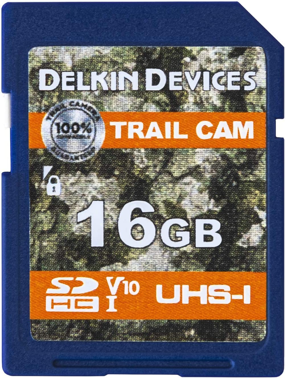 Delkin 16GB SD Card Digital SD Card Media Storage for Trail Cameras and Game Cameras Designed for Use in The Field in Hunting Cameras and Trail Cams