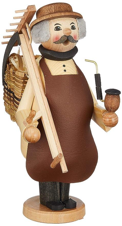 女王鮮やかな限られたkuhnert ミニパイプ人形香炉 農夫